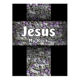 Jesus My Rock Postcard