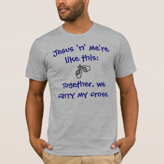 Jesus 'n' me - T-shirt/Hoodies - Blue T-Shirt