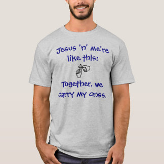 Jesus 'n' me - T-shirt/Hoodies - Dark Blue T-Shirt
