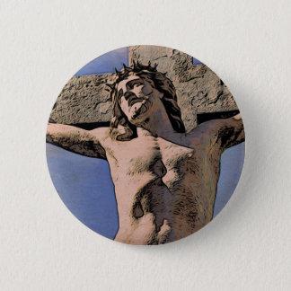 Jesus na Cruz Pinback Button