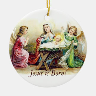 ¡Jesús nace Ornamentos del navidad Ornatos