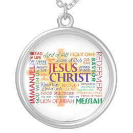JESUS NAME ABOVE ALL NAMES SILVER PLATED NECKLACE