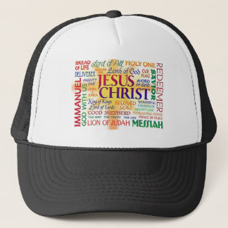 JESUS, NAME ABOVE ALL NAMES TRUCKER HAT