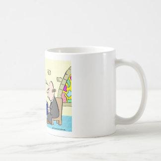 jesus name dropping church coffee mug