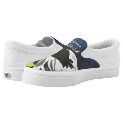 quot jesus name we pray quot slip on tennis shoes us printed