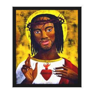 Jesús negro impresión de lienzo