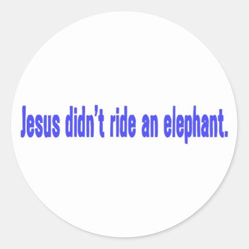 Jesús ningún parachoque del elefante del paseo etiqueta