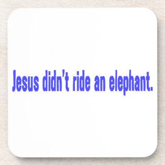 Jesús ningún parachoque del elefante del paseo posavasos