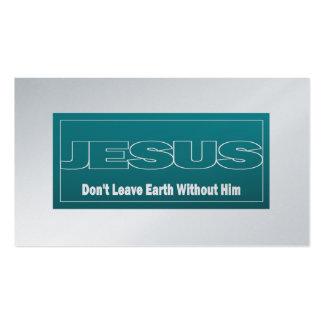 JESÚS no deja a tierra sin él de la zona las Plantilla De Tarjeta De Visita