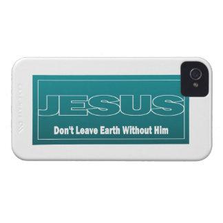 JESÚS no deja la tierra sin él Case-Mate iPhone 4 Cárcasas