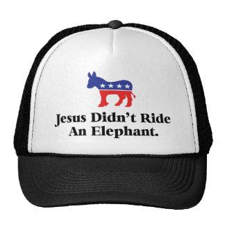 Jesús no montó un gorra del elefante