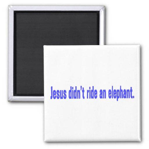 Jesus No Ride Elephant Bumper Fridge Magnets