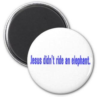Jesus No Ride Elephant Bumper Magnet