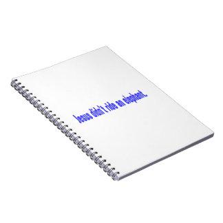Jesus No Ride Elephant Bumper Spiral Note Book
