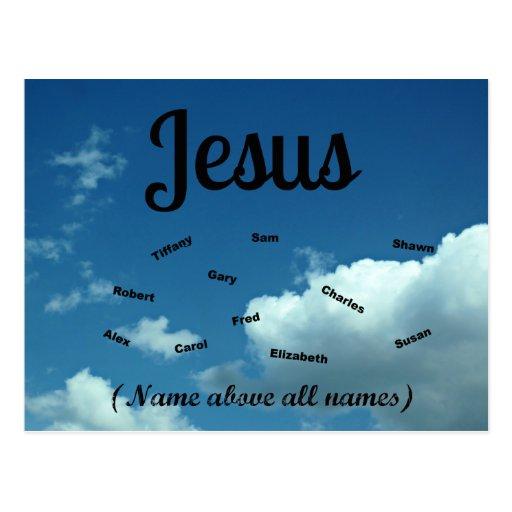 ¡Jesús, nombres del nombre sobre todo! Postales