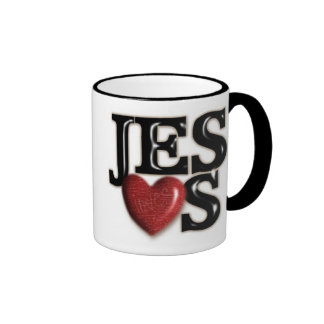 Jesús nos ama taza