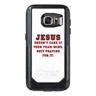 Jesus: Not a Sports Fan Black & Red OtterBox Samsung Galaxy S7 Case