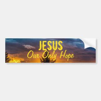 Jesús nuestra solamente esperanza pegatina para auto