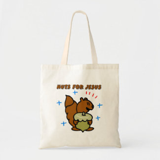 Jesus nut squirrel Christian saying Bag