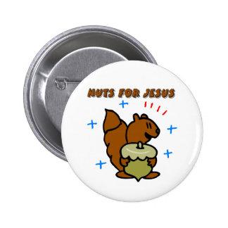 Jesus nut squirrel Christian saying Button