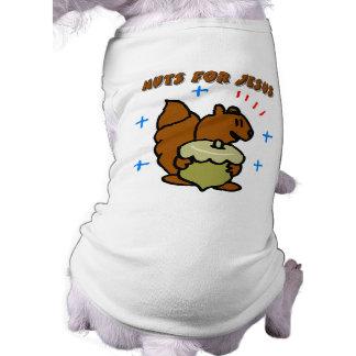 Jesus nut squirrel Christian saying Pet Shirt