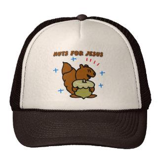 Jesus nut squirrel Christian saying Mesh Hat