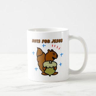 Jesus nut squirrel Christian saying Coffee Mugs