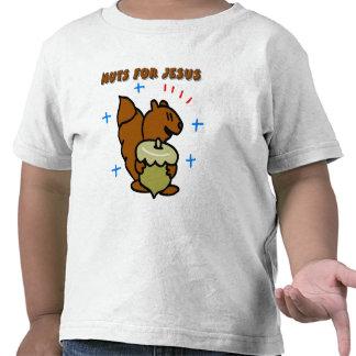 Jesus nut squirrel Christian saying Shirts