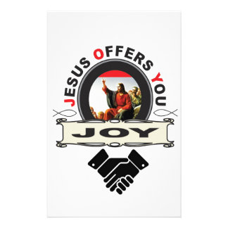 Jesus offers you joy logo stationery