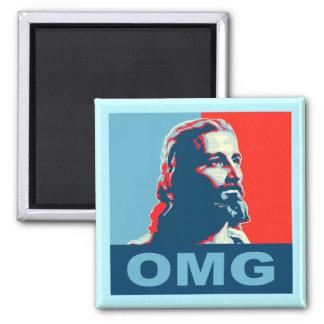 Jesus OMG Magnet Square