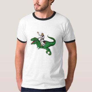 Jesus on a Dinosaur T-Shirt