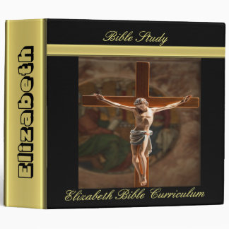 Jesus on a wood cross binder