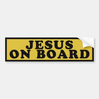 Jesus On Board Car Bumper Sticker