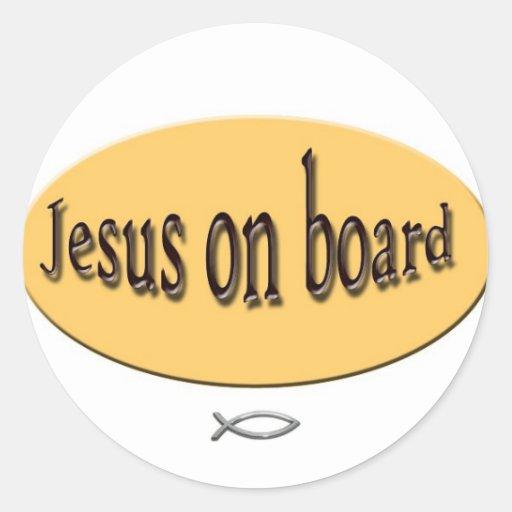 Jesus on board Sticker