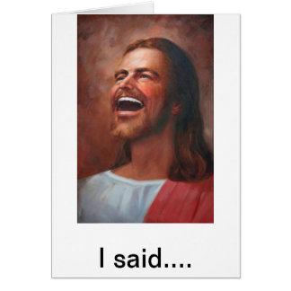 Jesus on Figs Greeting Card