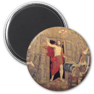 Jesus on Resurrection Tapestry in the Vatican 2 Inch Round Magnet