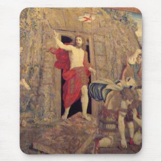 Jesus on Resurrection Tapestry in the Vatican Mouse Pad