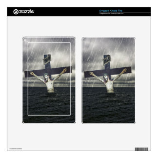 Jesus on the Cross at the Sea Kindle Fire Decals