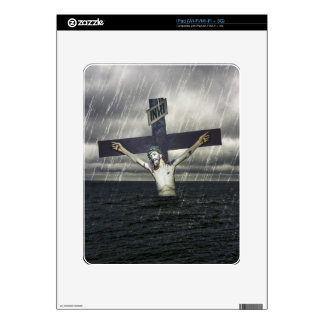 Jesus on the Cross at the Sea Skin For The iPad