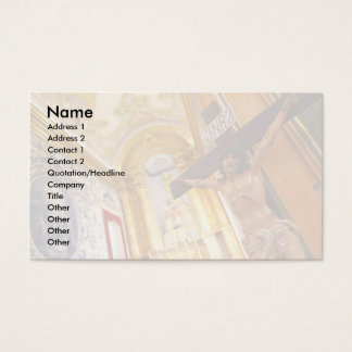 Jesus on the cross business card