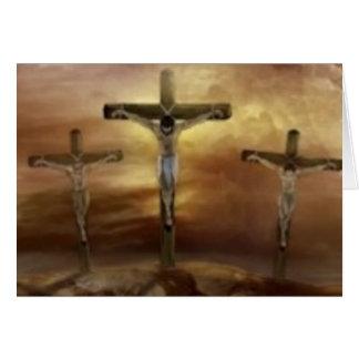 JESUS ON THE CROSS CARD