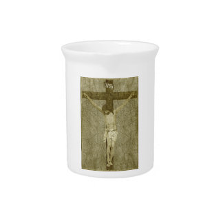 Jesus on the Cross Drink Pitcher