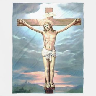 JESUS on the CROSS Fleece Blankets