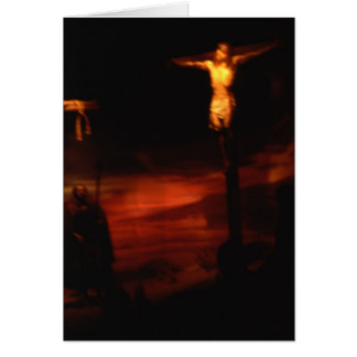 Jesus on the cross /He died for our sins Card