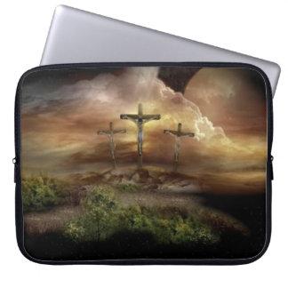 JESUS ON THE CROSS LAPTOP COMPUTER SLEEVE