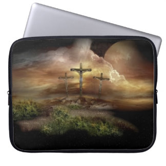JESUS ON THE CROSS LAPTOP COMPUTER SLEEVES