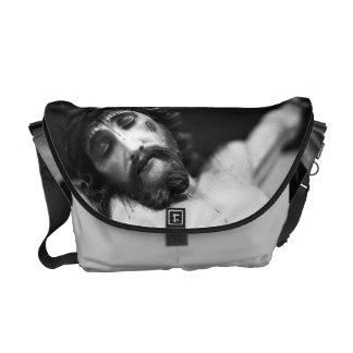 Jesus on the cross courier bag