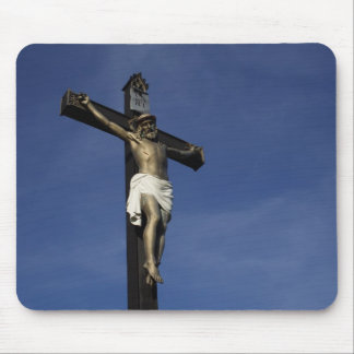 Jesus On The Cross Mouse Pad
