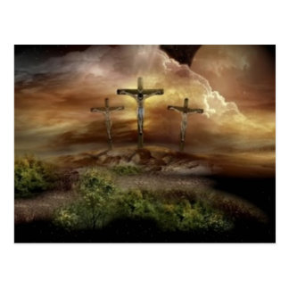 JESUS ON THE CROSS POSTCARD