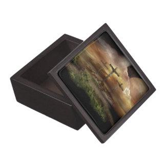 JESUS ON THE CROSS PREMIUM TRINKET BOXES
